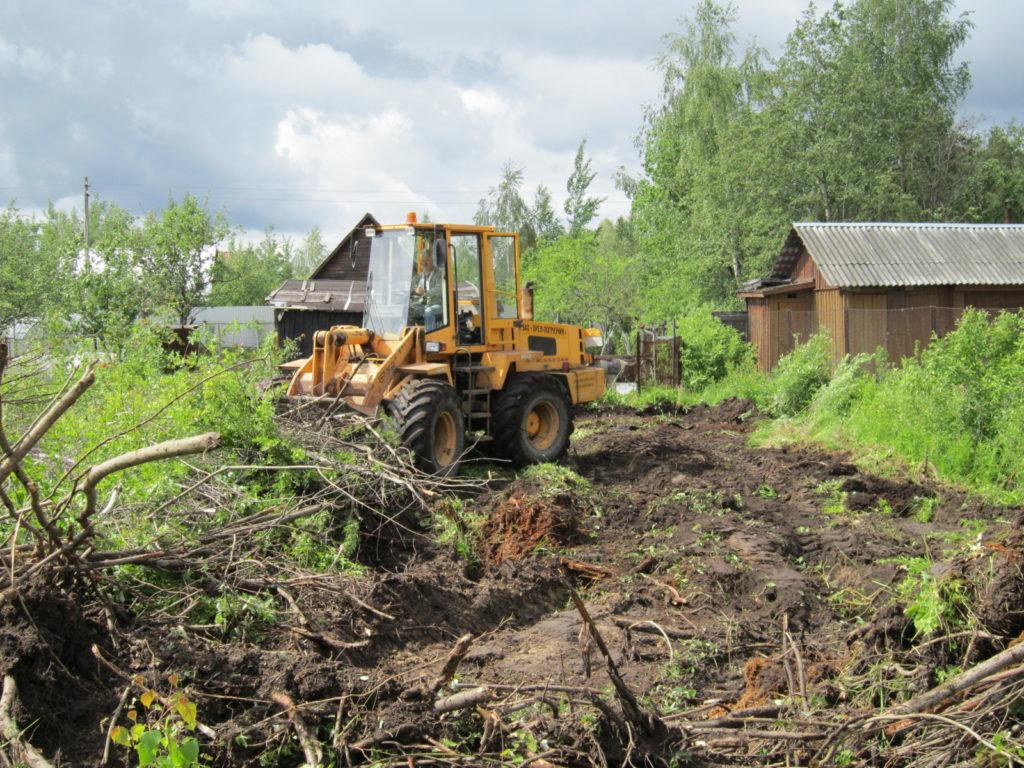 дом сколько стоит выкорчевать деревья на участке 10 соток лицо