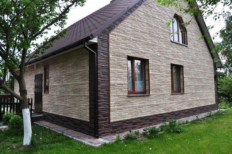 Доломит для отделки фасада дома
