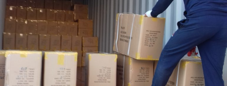 Выгрузка контейнера 20 т. на склад (пр. Красных Зорь)