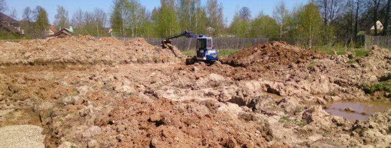Земляные работы механизированным способом
